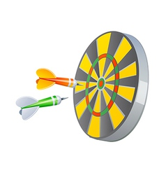 Icon dartboard vector