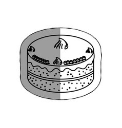 Sweet cake delicious icon vector