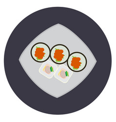 isolated traditional japanese food vector image