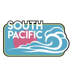 Vintage surf badge vector
