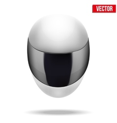 High quality light white motorcycle helmet vector