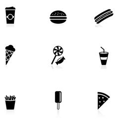 Snack icons vector