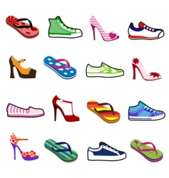 Shoes for man and woman vector