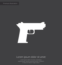 Gun premium icon vector