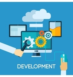 Programm development flat vector