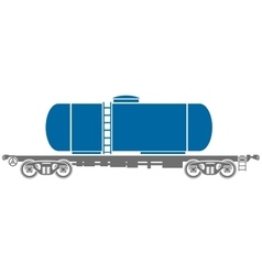 Tank railway freight car - vector