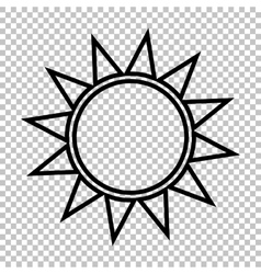 Sun sign line icon vector