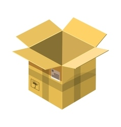 Open empty cardboard icon cartoon style vector