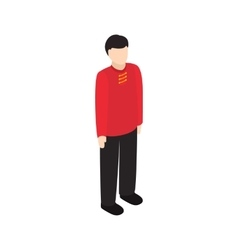 Male singaporean icon isometric 3d style vector