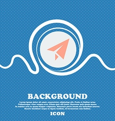 Paper airplane sign icon Blue and white abstract vector image