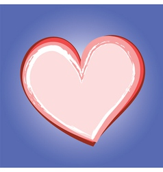 abstract heart symbol on blue background vector image vector image