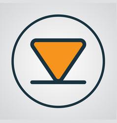 Arrow down colorful outline symbol premium vector
