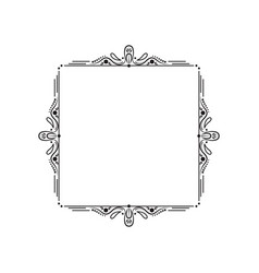 Black vintage elegant frame with monograms vector
