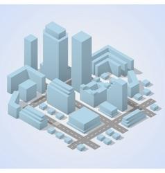 City plan isometric vector