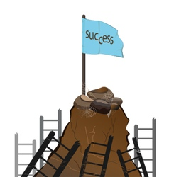 clamb to success vector image vector image