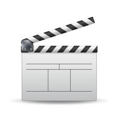 Clapper board white cinema clapper vector