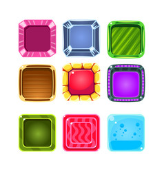 colorful gems flash game element templates design vector image