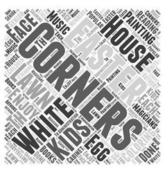Easter on the white house lawn word cloud concept vector