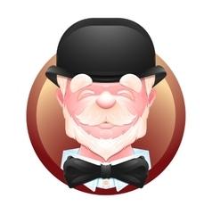 Elderly gentleman avatar icon vector