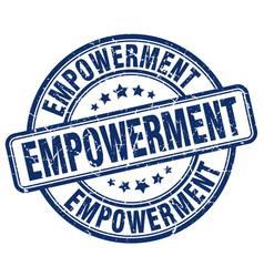 Empowerment blue grunge stamp vector