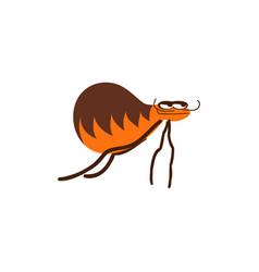 Funny flea cartoon vector