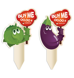 funny vegetables the price vector image vector image