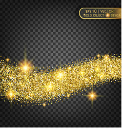 gold sparkles on a transparent background gold vector image vector image