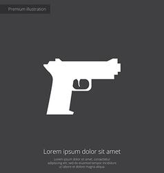 gun premium icon vector image