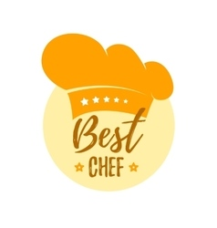 Hat best chef vector image