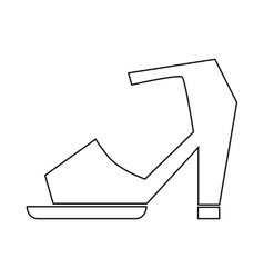 High heel shoe with ankle strap icon vector image