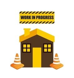 House icon work in progress design vector
