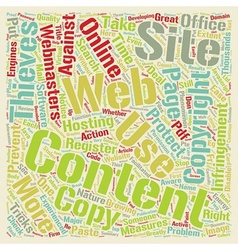 How To Protect Your Website Content text vector image