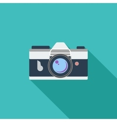 Icon vintage camera vector image