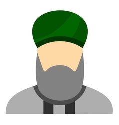 Islamic priest icon flat style vector