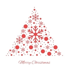 Merry christmas triangular ornament vector