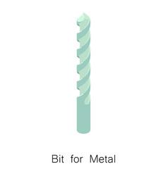 Metal bit icon isometric 3d style vector