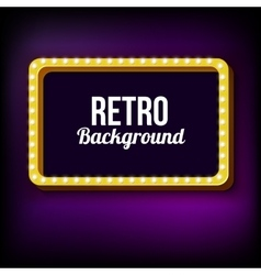 Night retro background with lights vector image