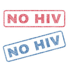 No hiv textile stamps vector