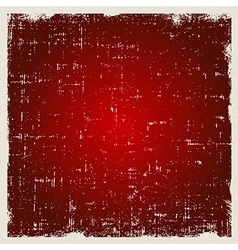 Red abstract background in grunge style vector image vector image