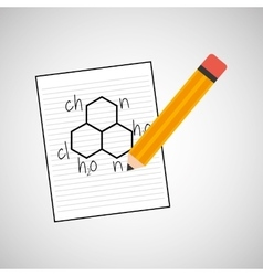 Science laboratory molecule drawing graphic vector