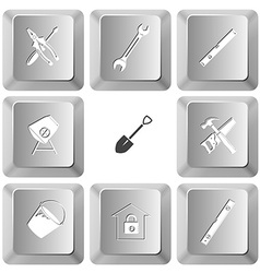 screwdriver and combination pliers spanner spirit vector image vector image