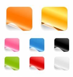 square stickers vector image vector image