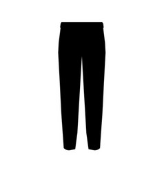 suit trousers symbol simple silhouette icon on vector image vector image
