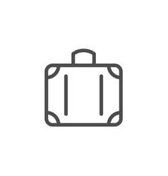 suitcase line icon vector image vector image