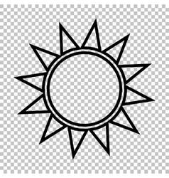 Sun sign line icon vector