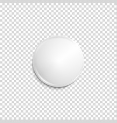 transparent realistic white badge vector image