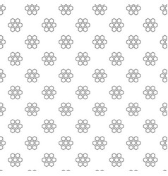 unique digital honeycombs seamless pattern with vector image