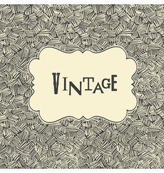 Vintage card template vector