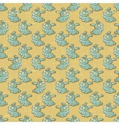 Vintage Cartoon Rabbits Pattern vector image vector image