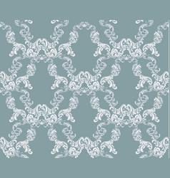 vintage damask floral pattern imperial style vector image vector image